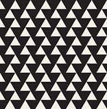Vector Seamless Black and White Geometric Triangle Tiling Pattern