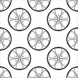 Background, contours lemons