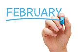 February Blue Marker