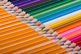 Color pencils background. close up of pencil color