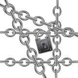Section chain on lock