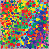 Bright rainbow dotted abstract background
