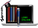 Learn English - Laptop Pc with Books