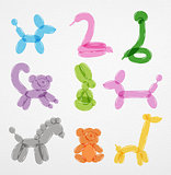 Animals balloons set