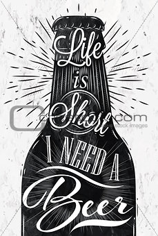 Poster vintage beer
