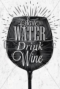 Poster vintage wine