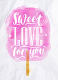 Cotton candy sweet love