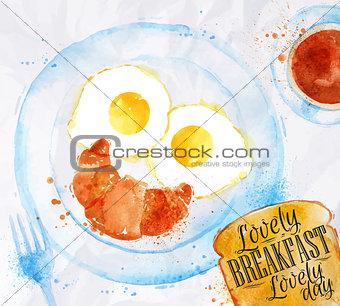 Breakfast smile eggs