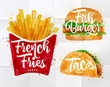 Set French fries