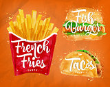 French fries orange