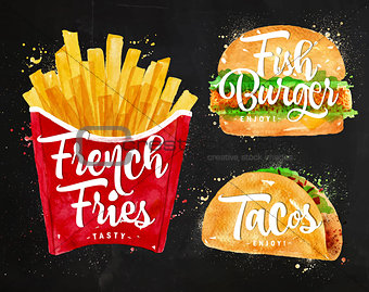 French fries chalk