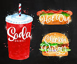 Soda water chalk