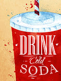 Poster Soda water