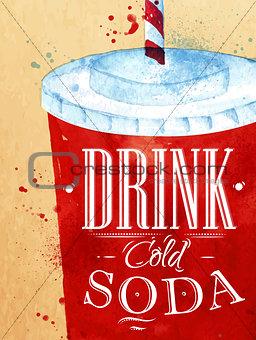 Poster Soda water