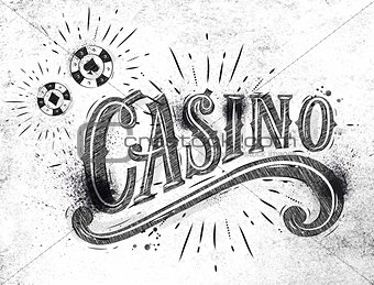Casino sign coal