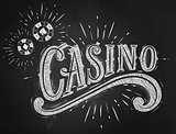 Casino sign chalk