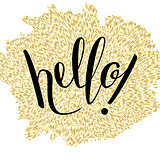 "Hand Lettering ""Hello!"""