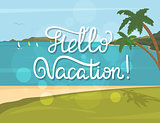 Hello vacation banner