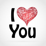 Love You Valentine Day Greeting card