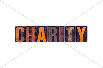 Charity Concept Isolated Letterpress Type