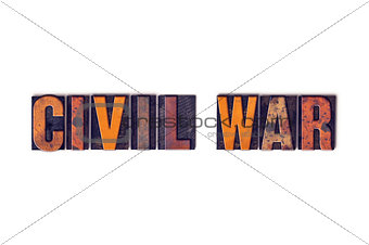 Civil War Concept Isolated Letterpress Type