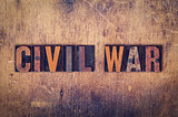 Civil War Concept Wooden Letterpress Type