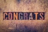 Congrats Concept Wooden Letterpress Type