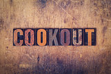 Cookout Concept Wooden Letterpress Type