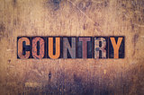 Country Concept Wooden Letterpress Type