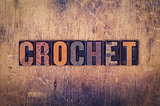 Crochet Concept Wooden Letterpress Type