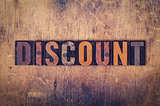Discount Concept Wooden Letterpress Type