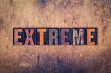 Extreme Concept Wooden Letterpress Type