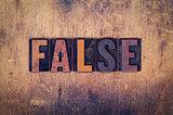 False Concept Wooden Letterpress Type