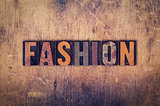 Fashion Concept Wooden Letterpress Type