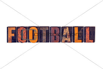 Football Concept Isolated Letterpress Type