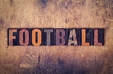 Football Concept Wooden Letterpress Type