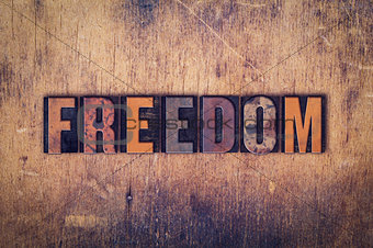 Freedom Concept Wooden Letterpress Type