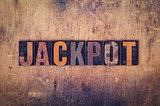 Jackpot Concept Wooden Letterpress Type