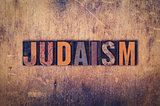 Judaism Concept Wooden Letterpress Type