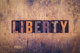 Liberty Concept Wooden Letterpress Type