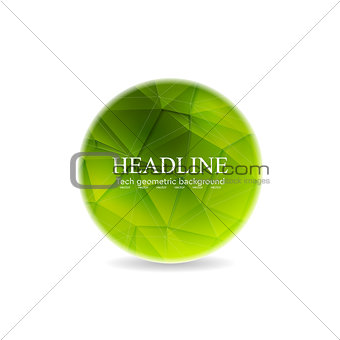 Green polygonal round sphere design