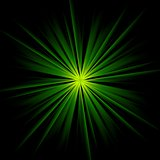 Dark green beams abstract background