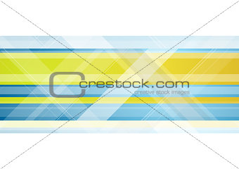Abstract bright tech vector geometric background