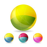 Colorful geometric vector balls