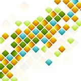 Bright squares. Abstract geometric background