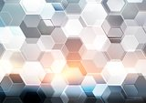 Abstract modern tech hexagon texture design