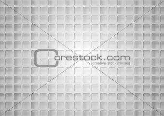 Grey geometric square mesh with shadow