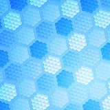 Blue abstract hexagonal texture background