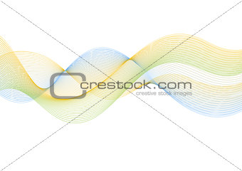 Abstract lines wavy bright background