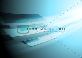 Bright blue hi-tech vector motion image background